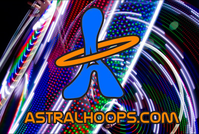 Astral Hoops LED Hula-hoops!
